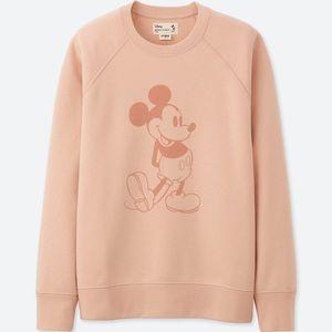 ✨UNIQLO x Disney Pale Pink Mickey Sweatshirt✨